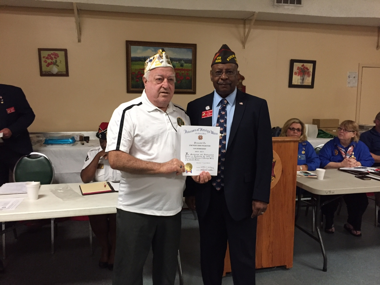 District 7 meeting on Sept. 23rd 2017 at VFW Post 8385 Kings Bay